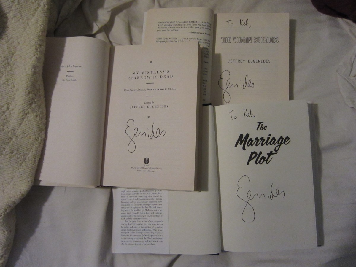 jeffrey eugenides, the virgin suicides, the marriage plot, my mistress's sparrow is dead