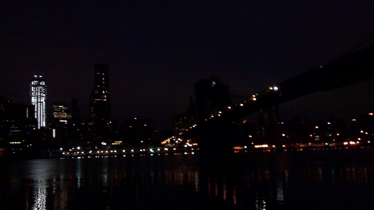 manhattan skyline, early morning