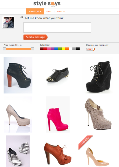 Stylesays, social shopping, social network