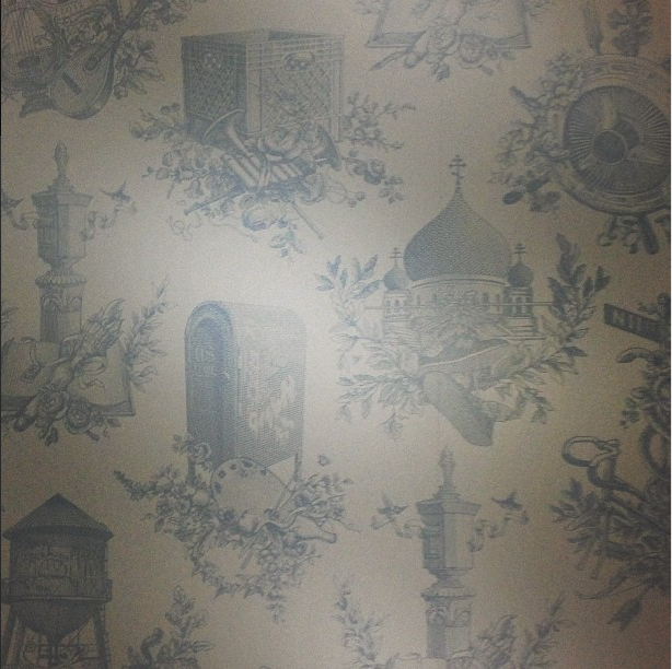 printed wallpaper, brooklyn hotel, wythe hotel
