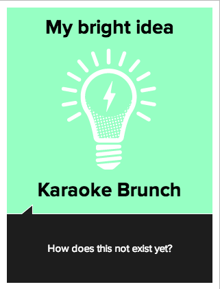 vizcards, karaoke brunch