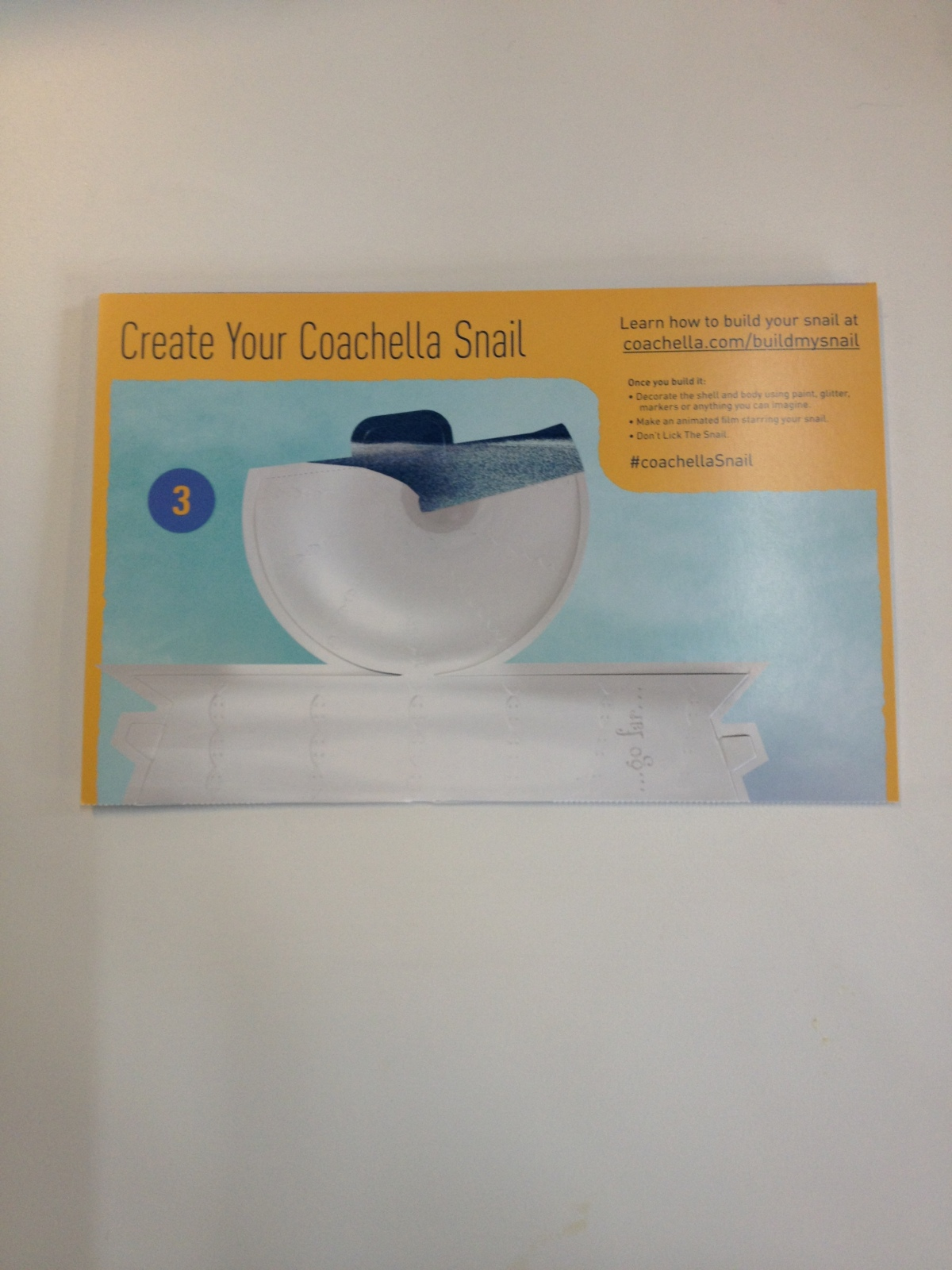 coachella 2014 pass, coachella snail making kit