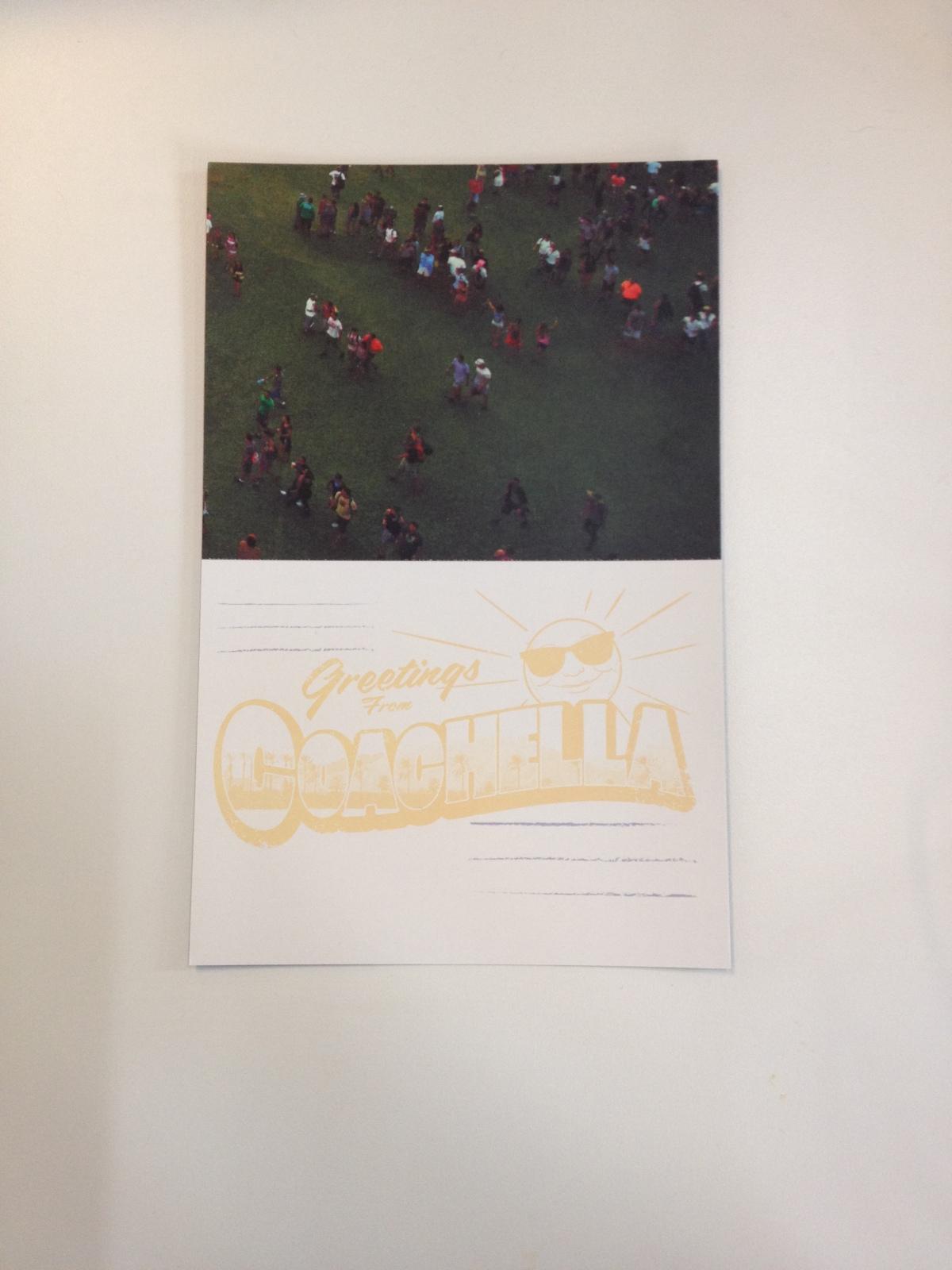 coachella music festival, coachella 2014 pass, coachella postcards