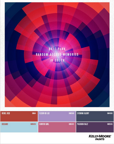 daft punk, infographic, color palette, kelly moore, random access memories
